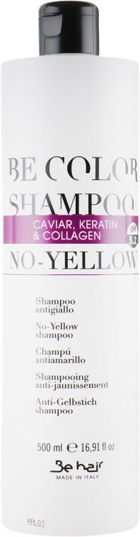 Антижёлтый шампунь для волос с коллагеном, икрой и кератином - Be Hair Be Color Shampoo No-Yellow