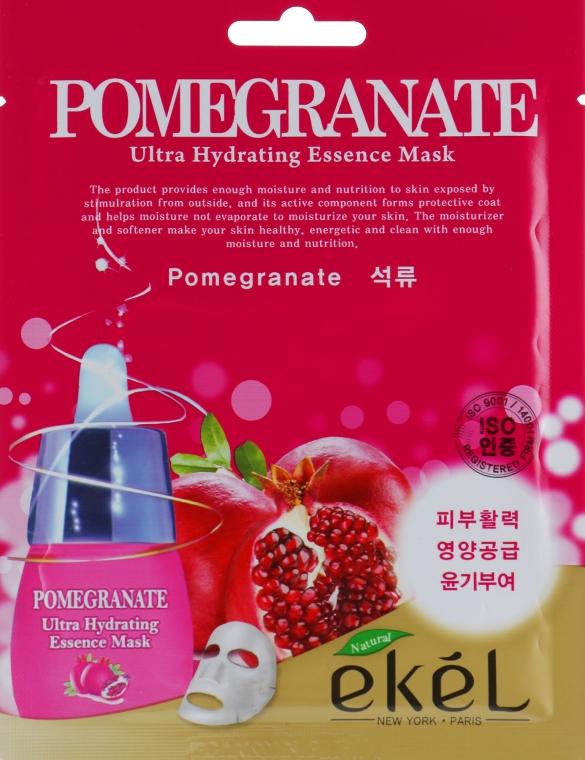 Восстанавливающая тканевая маска с экстрактом граната - Ekel Pomegranate Ultra Hydrating Essence Mask