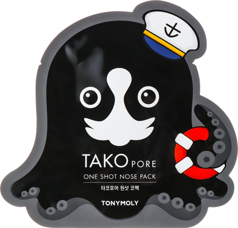 Маска-пластырь от черных точек - Tony Moly Tako Pore One Shot Nose Pack