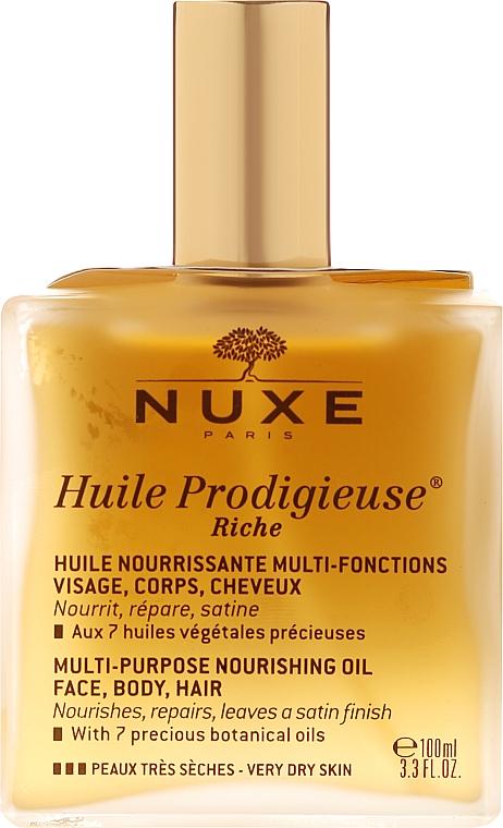 Питательное сухое масло для очень сухой кожи - Nuxe Huile Prodigieuse Riche Multi-Purpose Oil