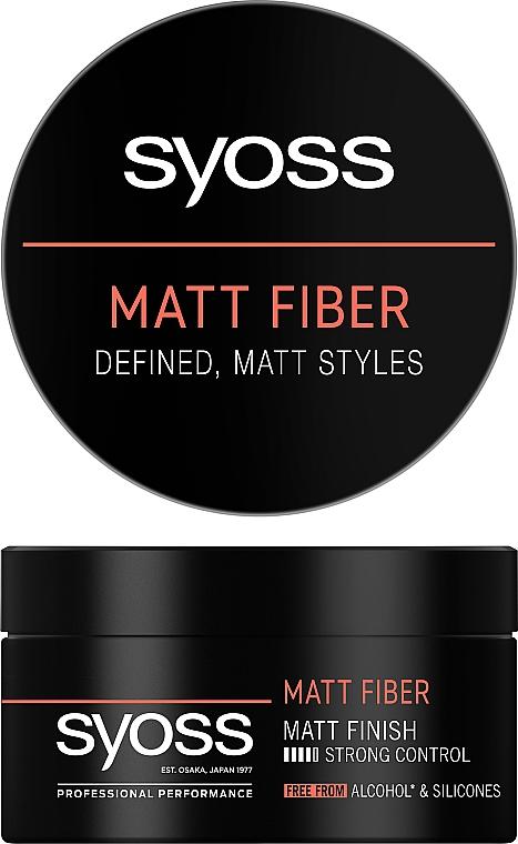 Паста матирующая для стайлинга волос, фиксация 4 - Syoss Matt Fiber