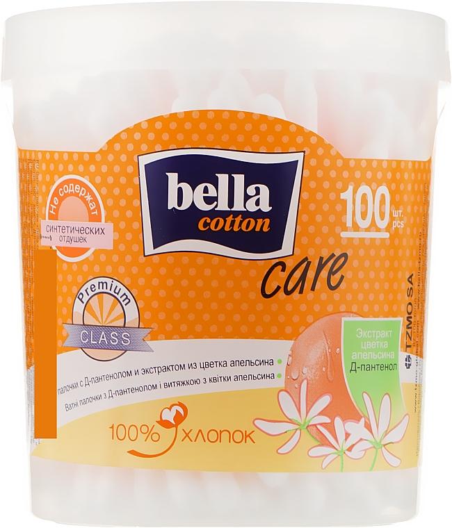 Ватные палочки с Д-пантенолом и экстрактом цветка апельсина, 100шт - Bella