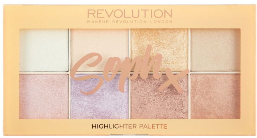Палетка хайлайтеров для лица - Makeup Revolution Soph Highlighter Palette