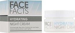 Духи, Парфюмерия, косметика Ночной крем для лица - Face Facts Hydrating Night Cream