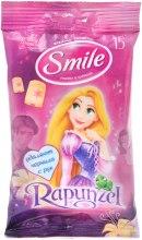 """Духи, Парфюмерия, косметика Влажные салфетки """"Принцессы"""" 15шт, Rapunzel - Smile Ukraine Princess"""