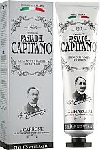 Духи, Парфюмерия, косметика Зубная паста с древесным углем - Pasta Del Capitano Charcoal