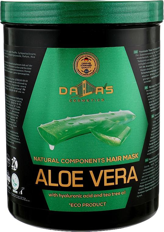 Маска для волос с гиалуроновой кислотой, натуральным соком алоэ и маслом чайного дерева - Dallas Cosmetics Aloe Vera Hair Mask