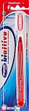 """Духи, Парфюмерия, косметика Зубная щетка """"Biattivo"""", средней жесткости, красная - Piave Medium Toothbrush"""