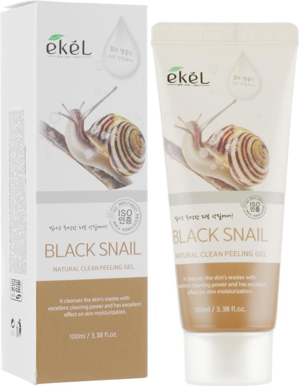 Деликатный пилинг-скатка с муцином черной улитки - Ekel Natural Clean Peeling Gel Black Snail