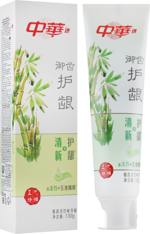 Зубная паста c бамбуком для ухода за деснами и свежести дыхания - Zhong Hua