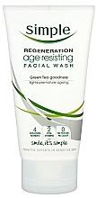 Духи, Парфюмерия, косметика Средство для умывания - Simple Regeneration Age Resisting Facial Wash