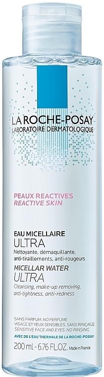 Мицеллярный раствор для гиперчувствительной кожи лица, склонной к покраснениям - La Roche-Posay Micellar Water Ultra for Reactive Skin