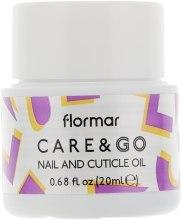 Духи, Парфюмерия, косметика Масло для ногтей и кутикулы - Flormar Care & Go Nail and Cuticle Oil