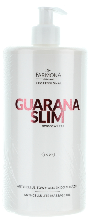 "Масло для массажа тела ""Личи"" - Farmona Guarana Slim Anti-Cellulite Massage Oil"