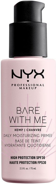 Увлажняющий праймер для лица с защитой SPF30 - NYX Professional Makeup Bare With Me Hemp Deily Moisturizing Primer