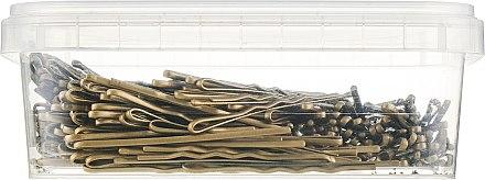 Невидимки для волос 50 мм, 50913, фрезерованные золотые - SPL — фото N2