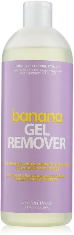 """Жидкость для снятия гель-лака """"Банан"""" - Jerden Proff Gel Remover"""
