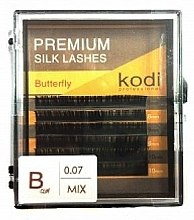 Духи, Парфюмерия, косметика Накладные ресницы Butterfly B 0.07 (6 рядов: 11/13) - Kodi Professional