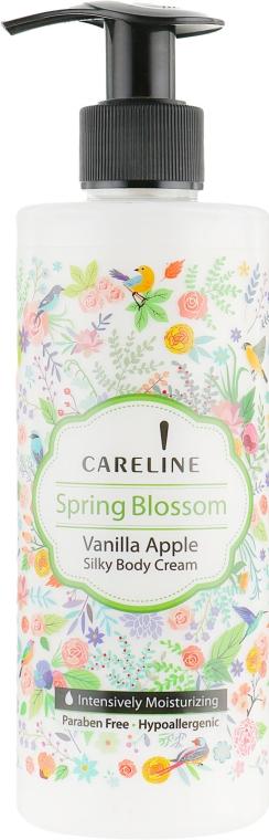 Шелковый крем для тела с ароматом яблока и ванили - Careline Spring Blossom Silky Body Cream