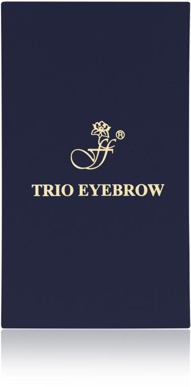 Тени для бровей компактные тройные - FFleur Trio Eyebrow