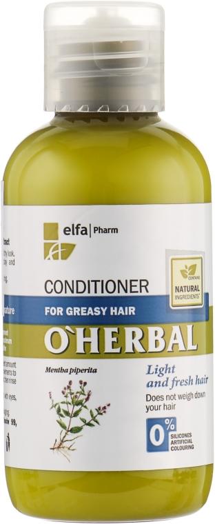 """Бальзам-кондиционер для жирных волос """"Свежесть и легкость"""" - O'Herbal"""
