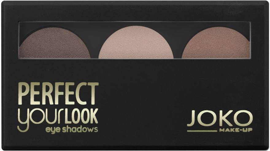 Тени для век трехцветные - Joko Perfect Your Look Trio Eye Shadows