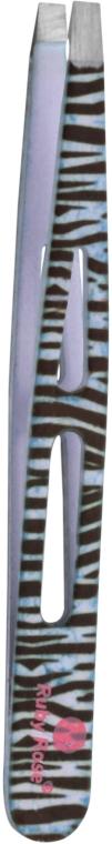 Пинцет прямой, зебра, HB-810 - Ruby Rose