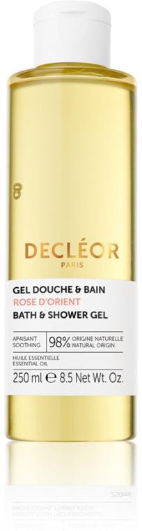 Гель для душа и ванны с эфирным маслом розы - Decleor Rose D'Orient Soothing Bath and Shower Gel