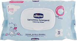 Духи, Парфюмерия, косметика Влажные салфетки мягкие очищающие, 72 шт - Chicco Baby Moment Soft Cleansing Wipes