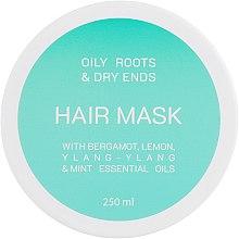 Духи, Парфюмерия, косметика Маска для жирных корней и сухих кончиков волос - Looky Look Hair Mask Oily Roots And Dry Ends