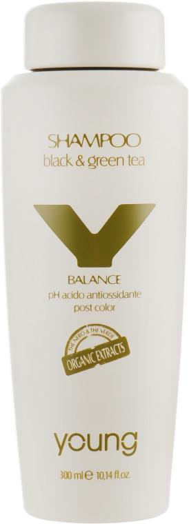 Шампунь для защиты цвета окрашенных волос - Young Y-Balance Black & Green Tee Shampoo
