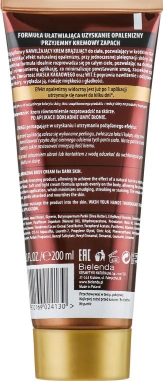 Бронзирующий увлажняющий крем для тела - Bielenda Magic Bronze 2in1 Moisturizing Bronze Cream For Dark Skin — фото N2