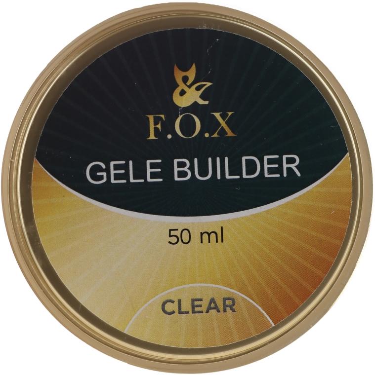 Моделирующий гель-желе, прозрачный - F.O.X Gele Builder UV Clear