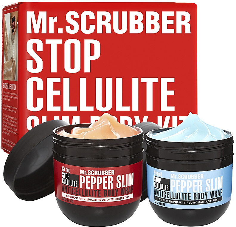 Набор - Mr.Scrubber Stop Cellulite Hot & Cold (cr/2x250g)