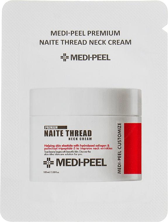 Пептидный крем для шеи и декольте - Medi Peel Naite Thread Neck Cream (пробник)