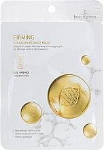 Духи, Парфюмерия, косметика Тканевая маска на основе морского коллагена - BeauuGreen Premium Firming Collagen Essence Mask