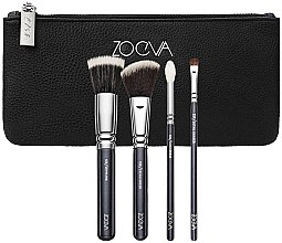 Духи, Парфюмерия, косметика Набор кистей для лица и глаз - Zoeva Bon Voyage Set (4/brushes+bag)