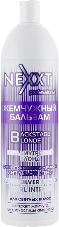 """Жемчужный бальзам """"Перламутровый блонд"""" - Nexxt Professional Backstage Blond — фото N1"""