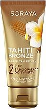 Парфумерія, косметика Автозасмага для обличчя, шиї і декольте - Soraya Tahiti Bronze 2 Step