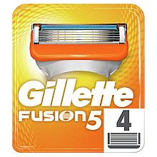 Парфумерія, косметика Змінні касети для гоління, 4 шт. - Gillette Fusion