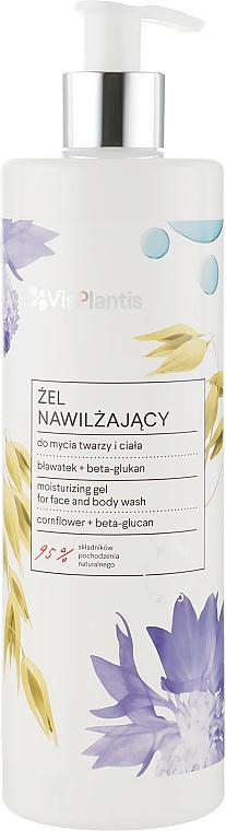 Увлажняющий гель для лица и тела с экстрактом василька и бета-глюканом - Vis Plantis Avena Vital Care Moisturizing Gel For Face And Body Wash