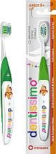 Духи, Парфюмерия, косметика Зубная щетка для детей от 6 лет, салатовая - Dentissimo Junior