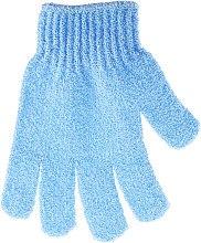 Духи, Парфюмерия, косметика Мочалка-перчатка банная, голубая - Top Choice