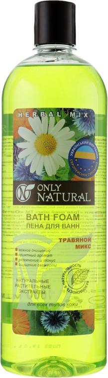"""Пена для ванн """"Травяной микс"""" - Only Natural"""