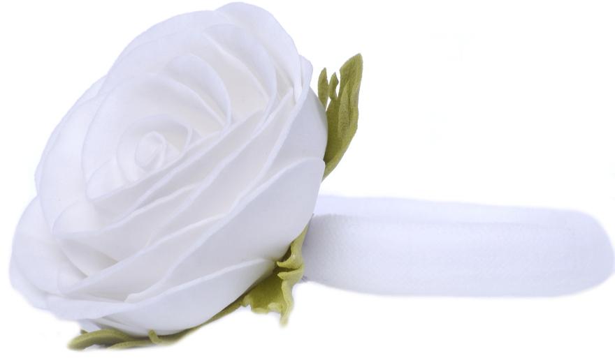 """Резинка для волос """"Белая роза"""" - Katya Snezhkova"""