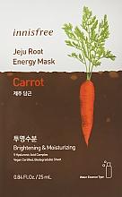 Духи, Парфюмерия, косметика Тканевая маска с экстрактом моркови - Innisfree Jeju Root Energy Mask Carrot