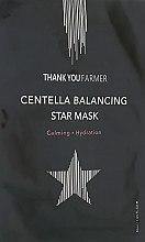 Духи, Парфюмерия, косметика Увлажняющая маска с центеллой азиатской - Thank You Farmer Centella Balancing Star Mask