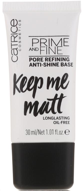 Основа под макияж выравнивающая - Catrice Prime And Fine Pore Refining Anti-Shine
