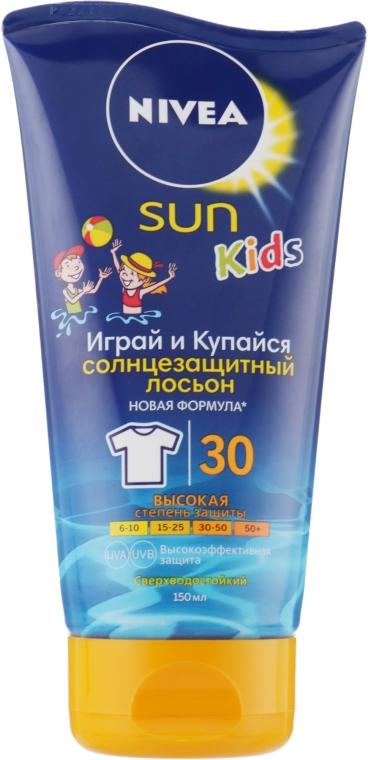 """Лосьон детский солнцезащитный """"Играй и купайся"""" SPF 30 - Nivea Sun Kids"""