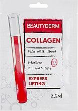 "Духи, Парфюмерия, косметика Тканевая маска для лица, интенсивная ""Коллаген"" - Beauty Derm Collagen Face Mask Sheet"